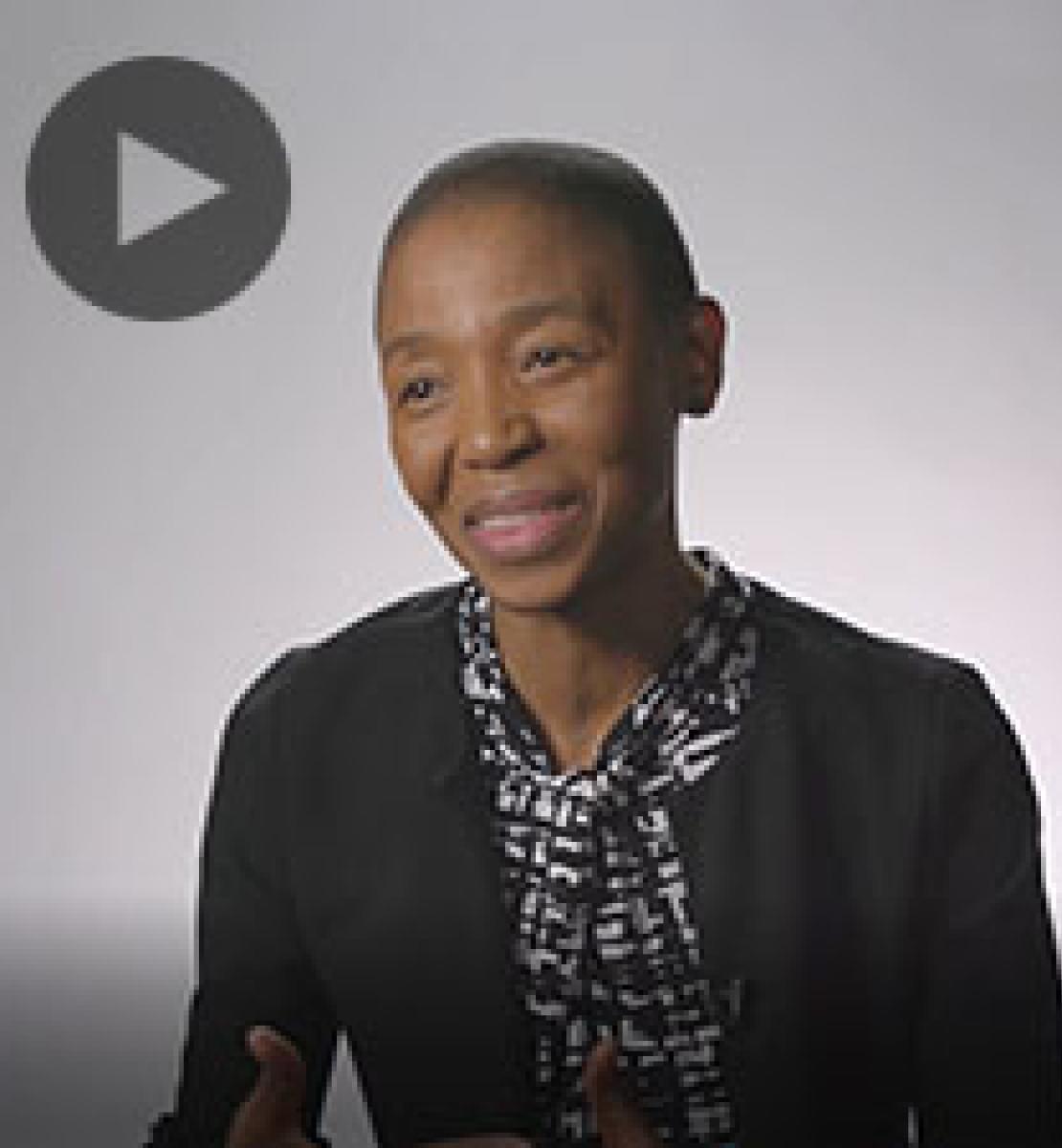 Screenshot from video message shows Resident Coordinator, Metsi Makhetha