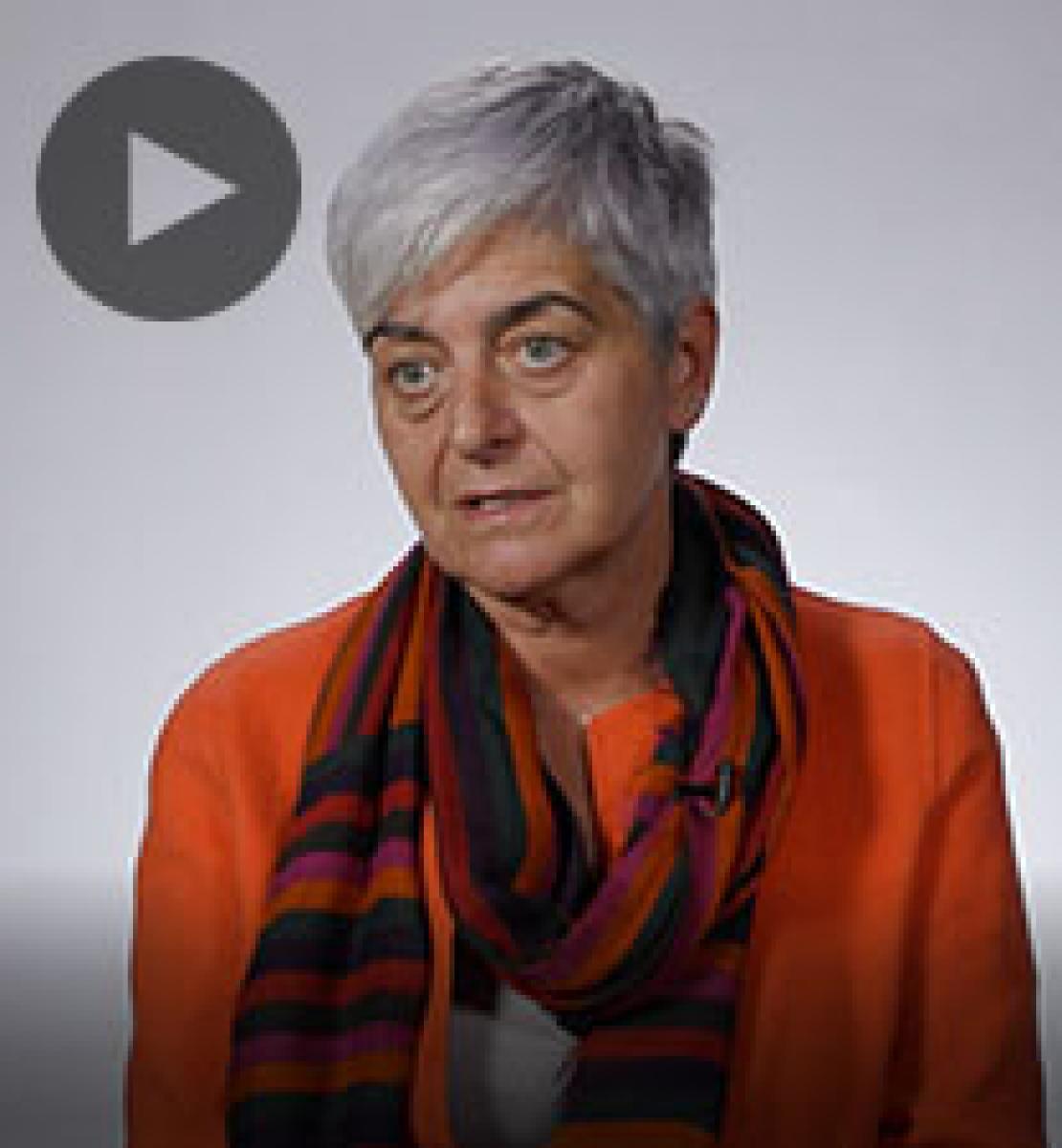 Screenshot from video message shows Resident Coordinator, Barbara Manzi