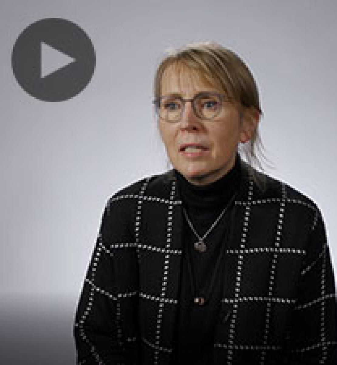 Screenshot from video message shows Resident Coordinator, Valerie Julliand