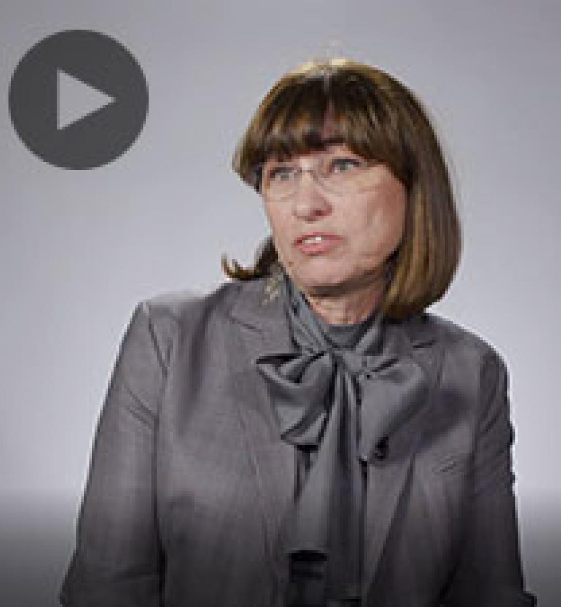 Screenshot from video message shows Resident Coordinator, Elena Panova