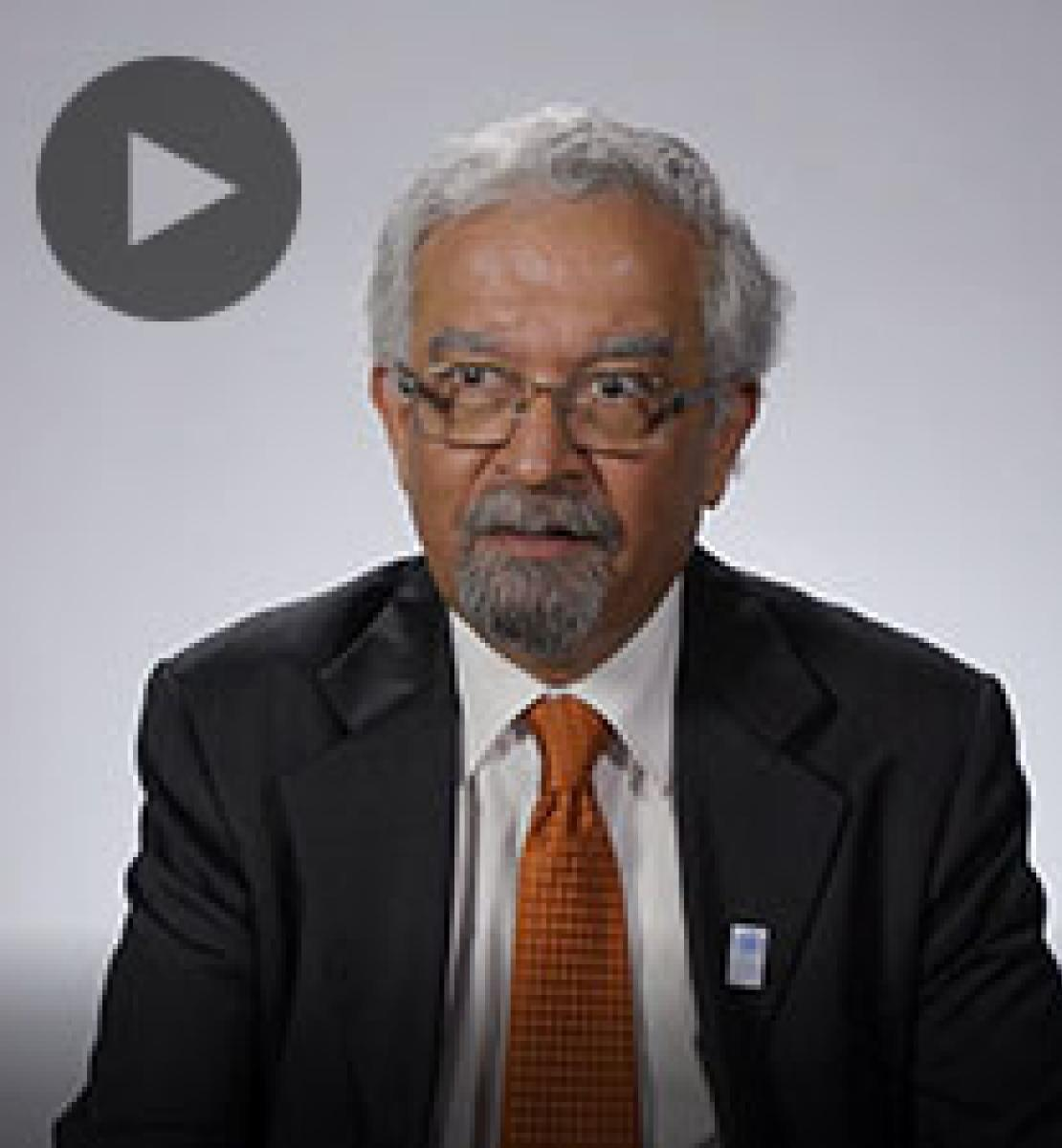 Screenshot from video message shows Resident Coordinator, Kamal Malhotra