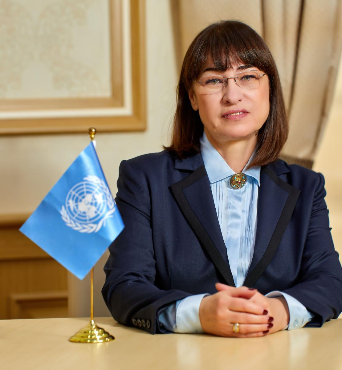 Official photo of the new appointed Resident Coordinator for Egypt, Elena Panova.