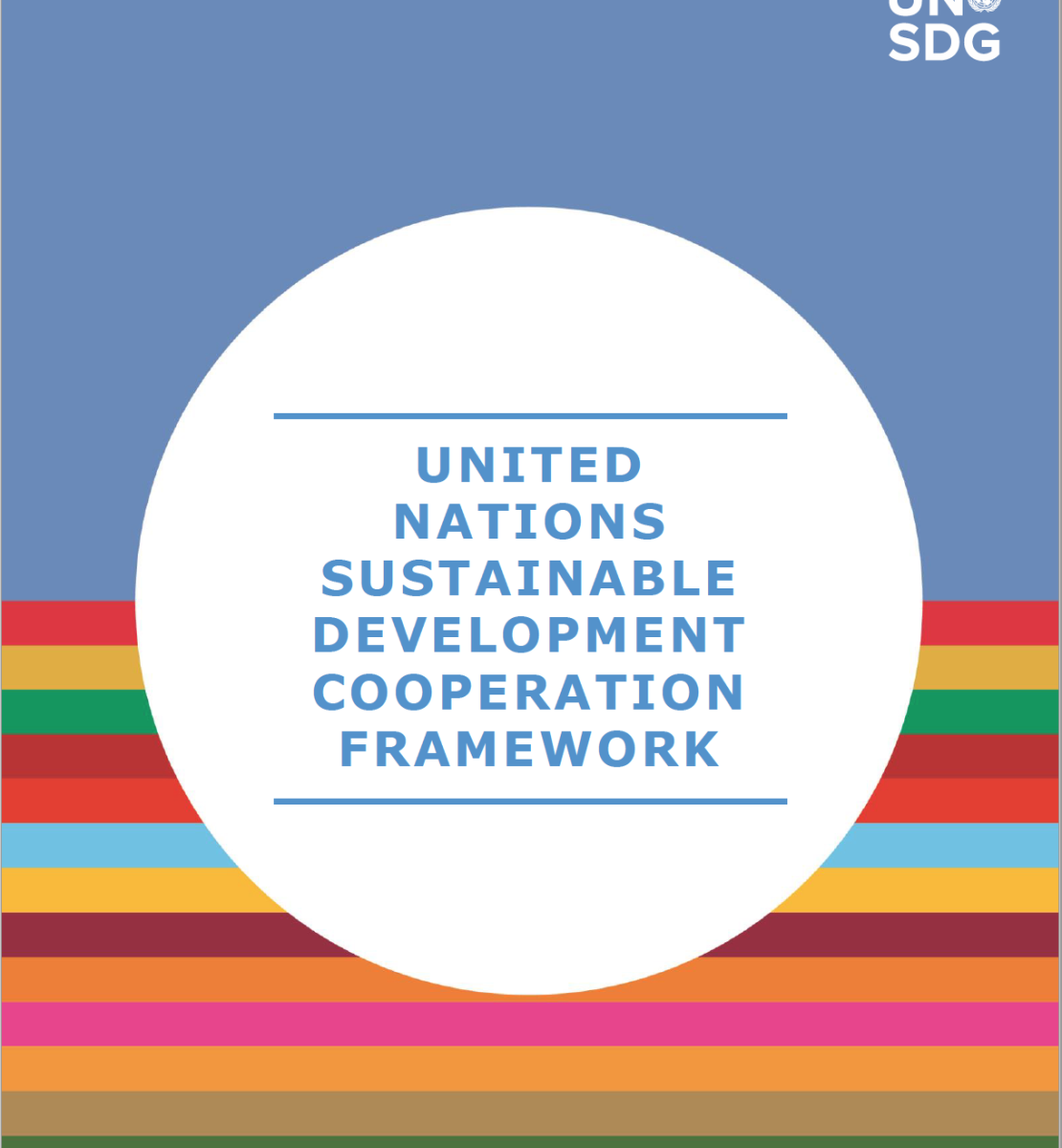 Cover of the UN Sustainable Development Cooperation Framework